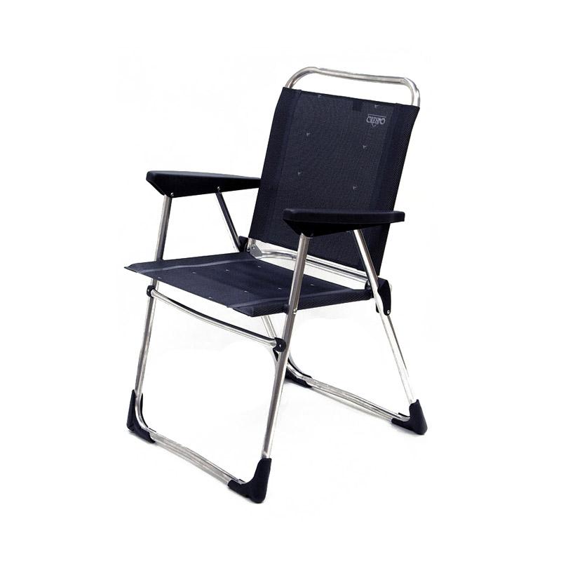 Silla fija de aluminio al 219 de crespo sillas crespo for Sillas de aluminio