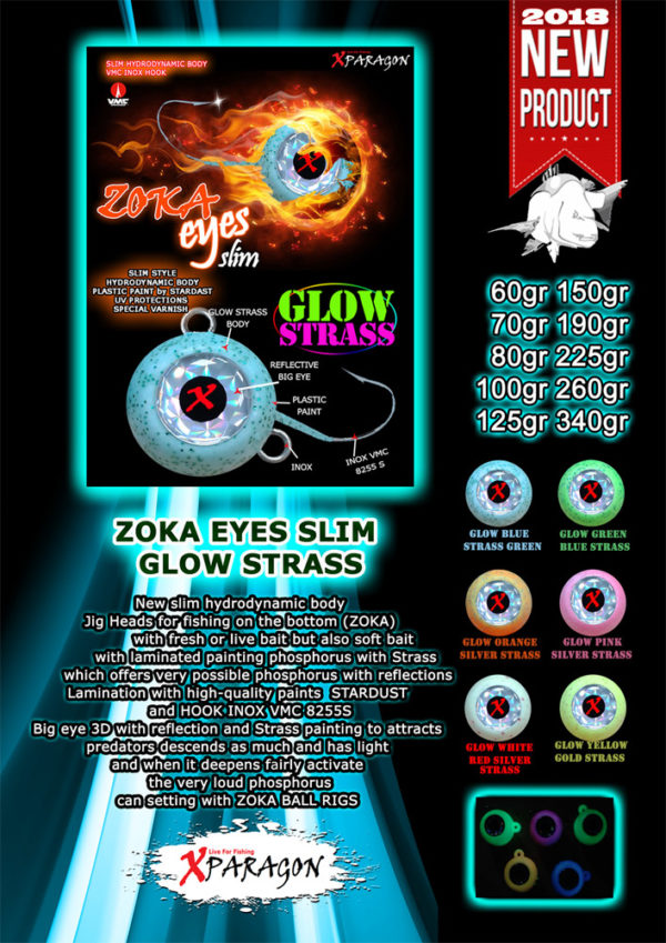 Trolling Ball Eyes Slim Glow Strass 260